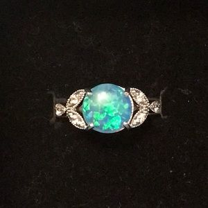 Jewelry - 925 Stamped Silver Blue Moonstone Ring